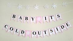 Baby It's Cold Outside Banner, Winter Baby Shower Banner, Winter Onederland Banner by CraftyCue on Etsy