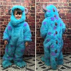 Disney Store Pixar Monsters Inc Sully Plush Furry Full Body Costume 2 4T Blue | eBay