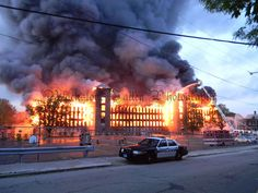 Woonsocket Mill Fire - unfortunately the old New England mills, with their oil soaked wood floors and beams, are being lost one by one...