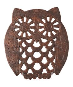Take a look at this Rustic Owl Trivet on zulily today!