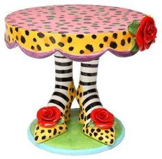 Stocking Foot Cake Plate