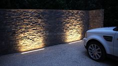 linear uplighting | driveway
