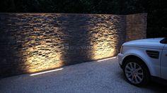 linear uplighting | driveway