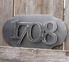 Unique yet classy house numbers. Metal House Numbers, Try Your Best, Pop Out, Custom Metal, Cnc, Home Improvement, Welding Ideas, Plasma Cutting, Outdoor Decorations