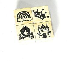 Destah / Supplies  Princess Stamps Rainbow Stamp by Yarnykins
