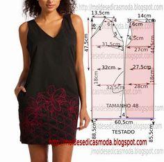 Moldes de moda para Medida: FACILITAR VESTIDO - 56
