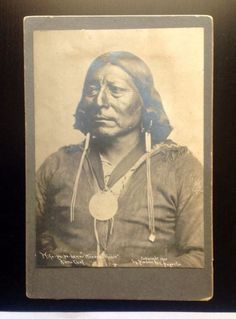 """Native American, Kiowa Chief by Will Soule, Circ; 1901 , """"RARE"""""""