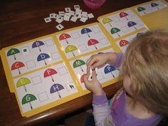 file folder game for matching upper & lower case letter Preschool Letters, Letter Activities, Work Activities, Learning Letters, Toddler Activities, Toddler Games, Toddler Learning, Activity Ideas, File Folder Activities