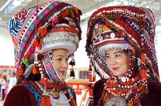 """For a while I thought """"maybe I should design Güzäl's mad max au look like a Kyrgyz lady's costume.... And then I thought... Maybe not :I XD something similar/smaller than this, though--  A young Kyrgyz ladies in their traditonal dresses."""