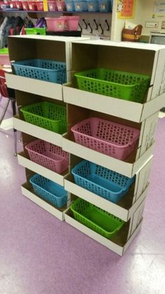 Storage Shelf out of copy paper boxes
