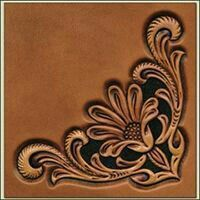 Sheridan Corner leather stamp. Love the pattern! Also would use the name for a 3rd daughter!