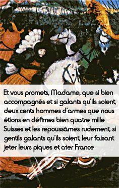 François Ier à sa mère Louise de Savoie. Connaissez-vous le surnom que lui donnait sa mère? #histoire de #France en #citations