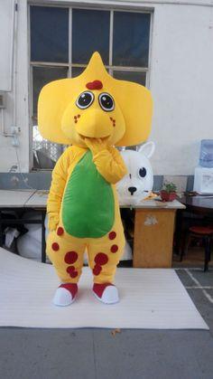 CosplayDiy+Unisex+Mascot+Costume+Belly+Fuschia+Barney+Dinosaur+Mascot+Costume+Cosplay+For+Party