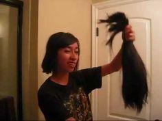 Wondrous Very Long Hair To Short Haircut Ponytail Chops Hairstyles For Men Maxibearus