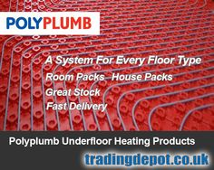 Polypipe underfloor heating is fully compatible with their 'Polyplumb' plumbing fittings range and most is kept in stock.