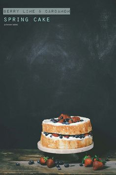 berry lime cardamom cake by abrowntable
