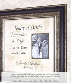 Mom Wedding Gift Mother of Bride Gift by PhotoFrameOriginals
