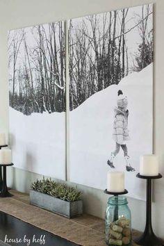 Esta foto montada en doble panel.