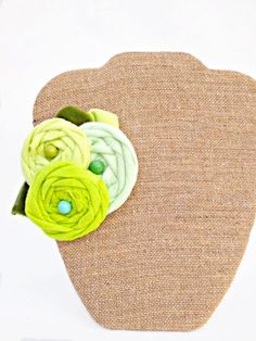 Green Ombre Rosette Flower Fascinator by StunningByDesign
