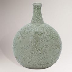 One of my favorite discoveries at WorldMarket.com: Novica Exotic Flora Celadon Ceramic Vase