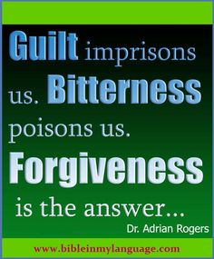 forgiveness is the answer