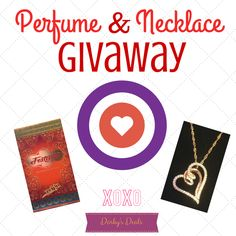 Necklace and Perfume Giveaway (Ends 2/26)  #giveaway #sweetnothings #win