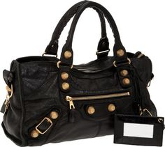 Heritage Vintage: Balenciaga Black Classic City Bag with Giant Gold  Machine-Turned Hardware.