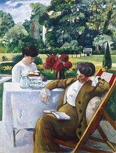 Tea at the Villa Flora Henri Manguin (French, Oil on canvas. Manguin enjoyed staying at the Villa Flora, where he was welcomed into the family's life and captured their domestic. Winterthur, Reading Art, Woman Reading, Art Fauvisme, Tee Kunst, Vincent Van Gogh, Maurice De Vlaminck, André Derain, People Reading