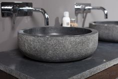 Natural stone basin with an exclusive finish