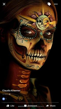 10 Stunning Makeup Ideas for Halloween Sugar Scull, Sugar Skull Art, Sugar Skull Painting, Day Of The Dead Artwork, Day Of The Dead Skull, Maquillage Sugar Skull, Skull Face Paint, Catrina Tattoo, Makeup Wallpapers