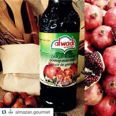 #Repost @almazan.gourmet with @repostapp ・・・ Que mejor que acompañar un plato con Salsa Agridulce de Granada!  Para un Solomillo de Cerdo, Magret de Pato, Postres de Limón, Berries, o Quesos!  Ven a conocer nuestra variedad de productos árabes! Y Más! #barriolasflores #Gourmet #postres #carne #agridulce #granada #chesse #almazan #pocuro #chilegourmet #comidaarabe #alwadi #alwadialakhdar (Al Wadi Al Akhdar Pomegranate Molasses) Pomegranate Molasses, Pomegranate Juice, Salsa, Savoury Dishes, Granada, Carne, Berries, Instagram, Food