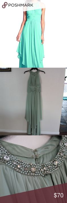 * 12 HOUR SALE * Turquoise Prom Dress Feel like a goddess in this dress. It has only been used once before and I paired them with a pair of gray heels that I will later list in my closet. Elize F Dresses