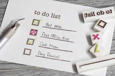 Perfect To Do list stamps from etsy