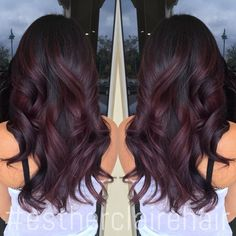 burgundy balayage ombre - Google Search...