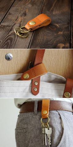 Sophisticated Panache: Awesome Projects Made From Leather Leather Art, Leather Gifts, Leather Design, Leather Tooling, Leather Jewelry, Leather Wallet, Sewing Leather, Diy Jewelry Unique, Small Leather Goods