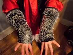 Knitted Dragon Slayer Chain Mail Gauntlets by LittleGreenPixie on Ravelry.com  - Kinda like this?