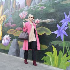40 plus style, fashion over 50, fashion over 40, style over 40, mixing colors, cropped flares, midlife style, pinks, plums, and blush, OOTD