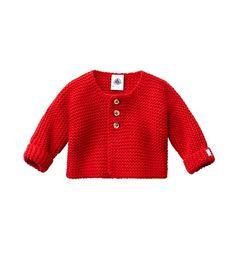 Uniseks babycardigan in tricot van wol en katoen   Petit Bateau   54,90