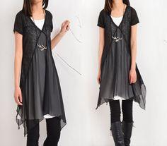 Transparent Meditation zen layered tunic dress por idea2lifestyle