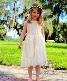 Champage flower girl dress baby dress vintage flower girl Koszorúslány Ruhák b0f400c58b