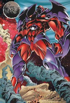 Onslaught (X-Men enemy) (Marvel Comics) standing in majesty °° Comic Book Villains, Marvel Villains, Comic Book Characters, Marvel Heroes, Marvel Characters, Comic Books Art, Comic Art, Marvel Comic Universe, Comics Universe