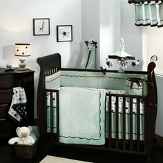 Classic Sage Baby Bedding Set by Lambs and Ivy