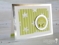 Art with Heart Colour Creations blog hop. Colour challenge with Stampin' Up!'s Lemon Lime Twist.