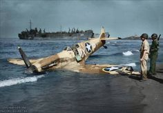 A Supermarine Spitfire Vc 'Tropical' JK707 MX-P serving with 307th Fighter Squadron, 31st Fighter Group operated by 12th USAAF. The regular pilot was 1st.Lt. Carroll A. Prybylo, but when lost it was flown by Capt. Virgil Cephus Fields, Jr. [Colorized by Paul Reynolds]