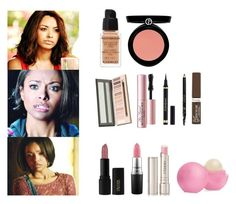 Bonnie Bennett Inspired Makeup - tvd / the vampire diaries by shadyannon on Polyvore featuring polyvore fashion style Armani Beauty Givenchy Too Faced Cosmetics INIKA By Terry MAC Cosmetics Rimmel Yves Saint Laurent Gucci Eos clothing