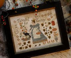 Primitive Cross Stitch Pattern  Queen of Harvest
