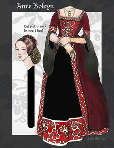 Headless Anne Boleyn Paper Doll by LisaPerrinArt, via Flickr