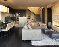 Modern Family Room Design,   Interior