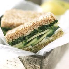 Cucumber Sandwiches. These crunchy sandwiches get flavor from a blend of fresh herbs and cheese.