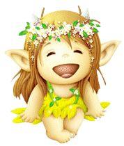 klik for at se i normal størrelse Cute Fantasy Creatures, Baby Fairy, Acrylic Painting Techniques, 3d Cards, Gif Animé, Mythological Creatures, Disney Tattoos, Cartoon Pics, Tole Painting